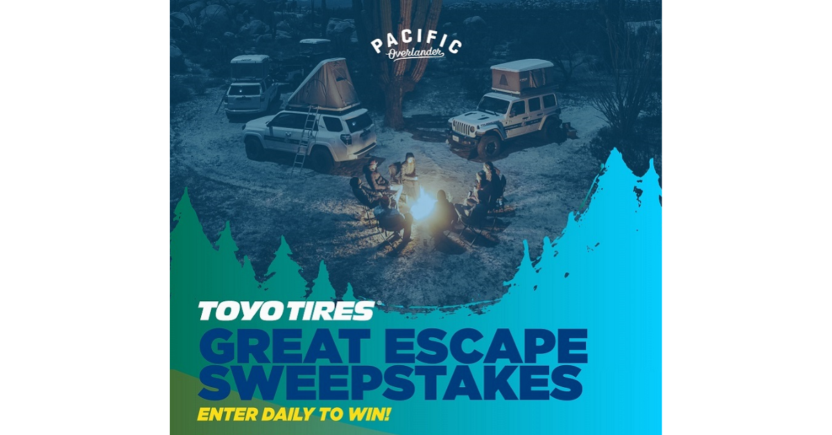 Toyo Tires-Great Escape Sweepstakes
