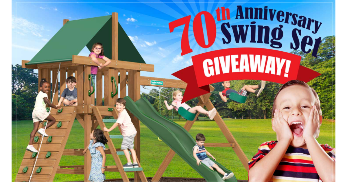70th Anniversary Swing Set Giveaway