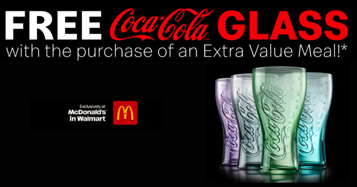 FREE Limited Edition Coca-Cola Glass from McDonald's