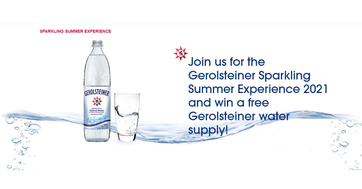 Win a FREE Gerolsteiner Water Supply