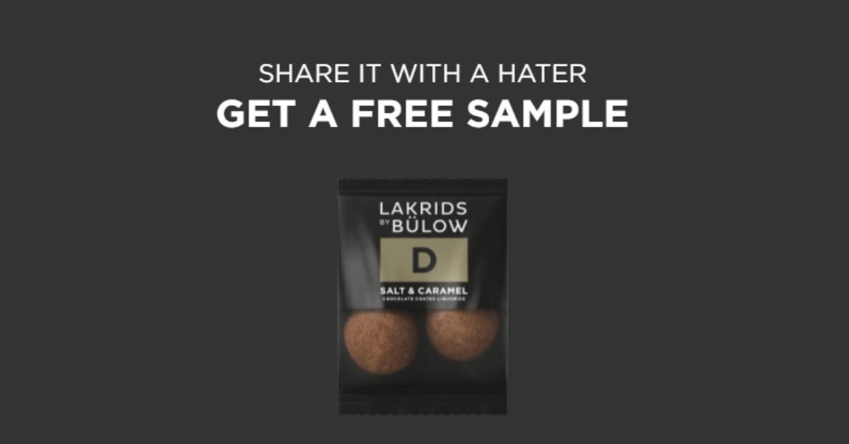 Lakrids by Bulow Gourmet Licorice FREE Sample