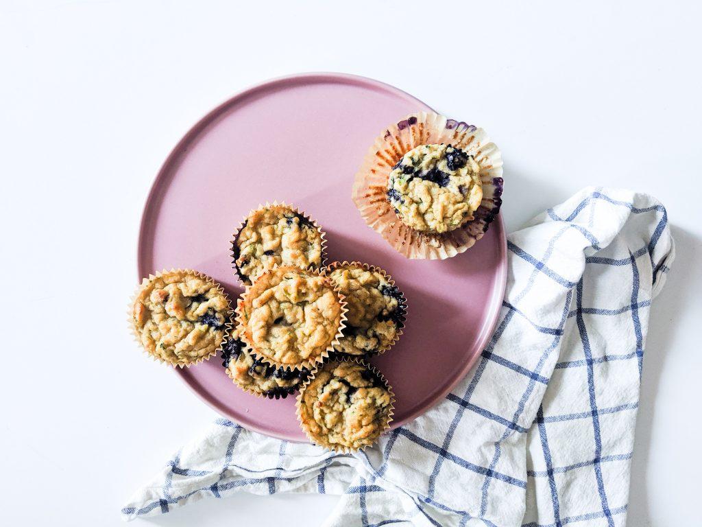 Banana Blueberry Zucchini Muffins