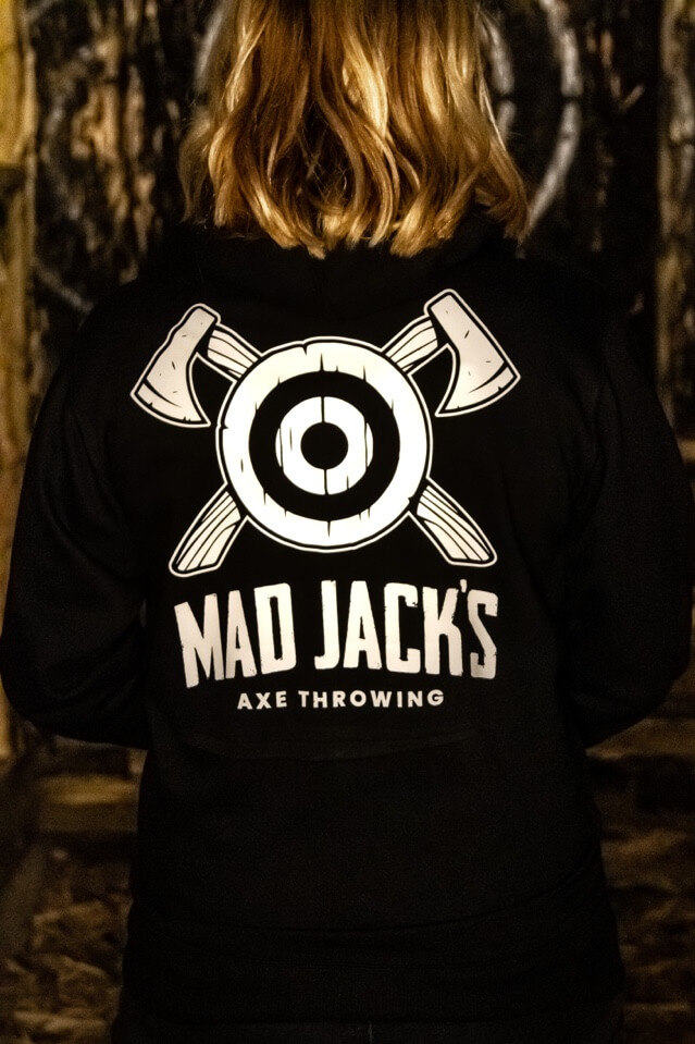 Mad Jacks Pullover Hoodie, rear view - female