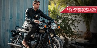 £100 Clothing Gift Card With Triumph Motorcycles' Latest Offers