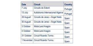 Fim Cev Repsol Calendar Updated
