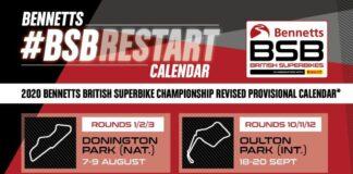 Revised 2020 Bennetts British Superbike Calendar Announced