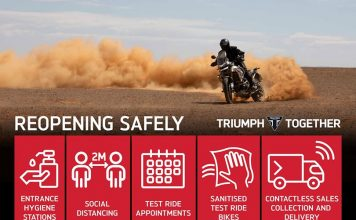 Triumph Motorcycles' Dealer Network To Re-open