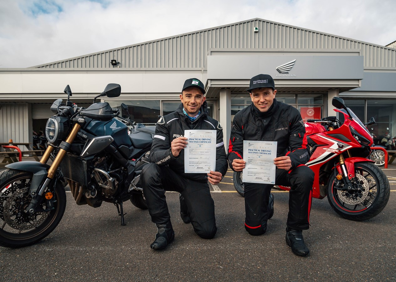 Honda Racing Bsb Riders Andrew And Glenn Irwin Take To The Roads After Passing Motorcycle Tests