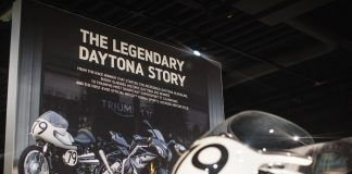 New Triumph Daytona Exhibition Launches At The Launches At The Triumph Factory Visitor Experience