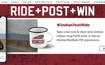 Indian Motorcycle Test Ride Competition Announced – Ride, Post, Win
