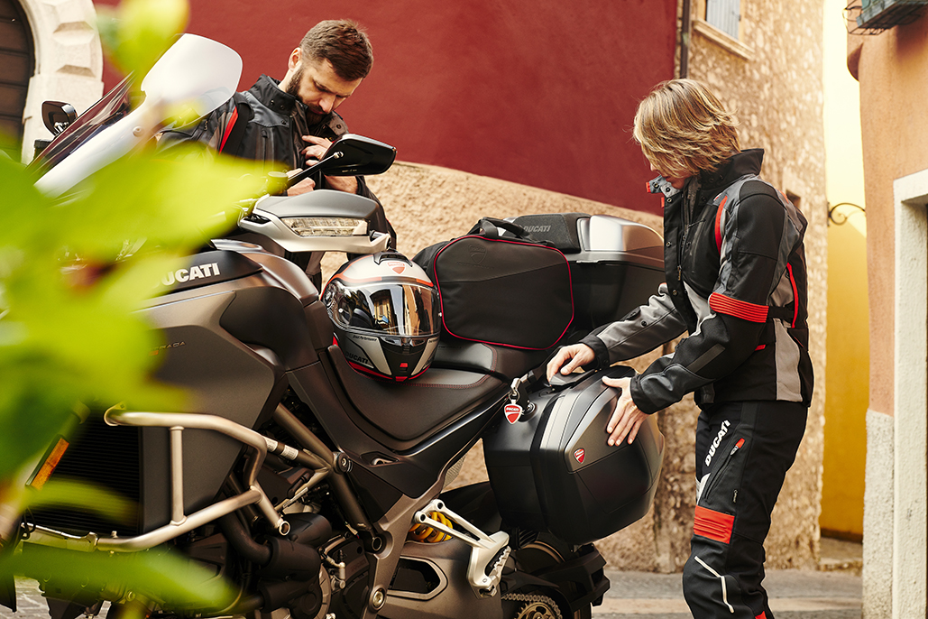 The Pleasure Of Travelling On A Motorcycle Doubles With Ducati Performance Touring Accessories