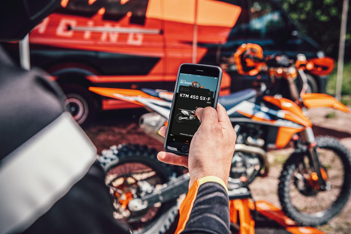 The Myktm App And Kit Offer Factory Bike Set Up At The Touch Of A Button 01
