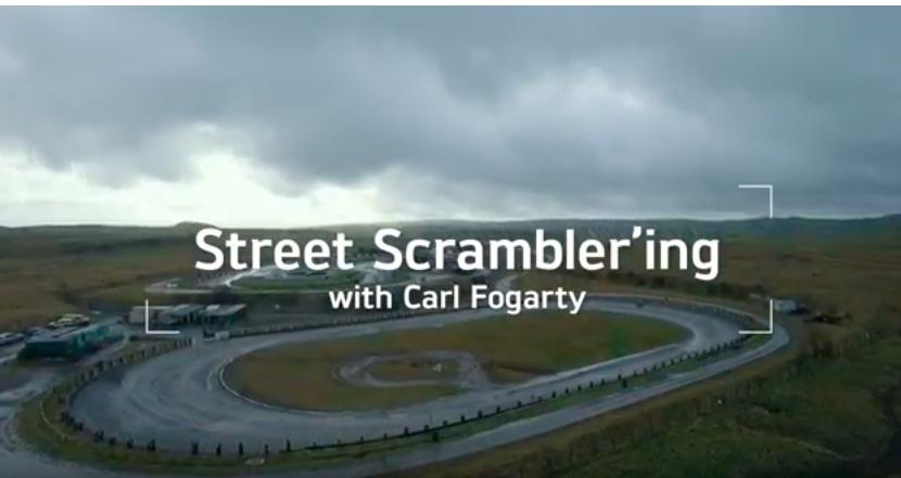 Carl Fogarty Returns To Speedway On Triumph Street Scrambler