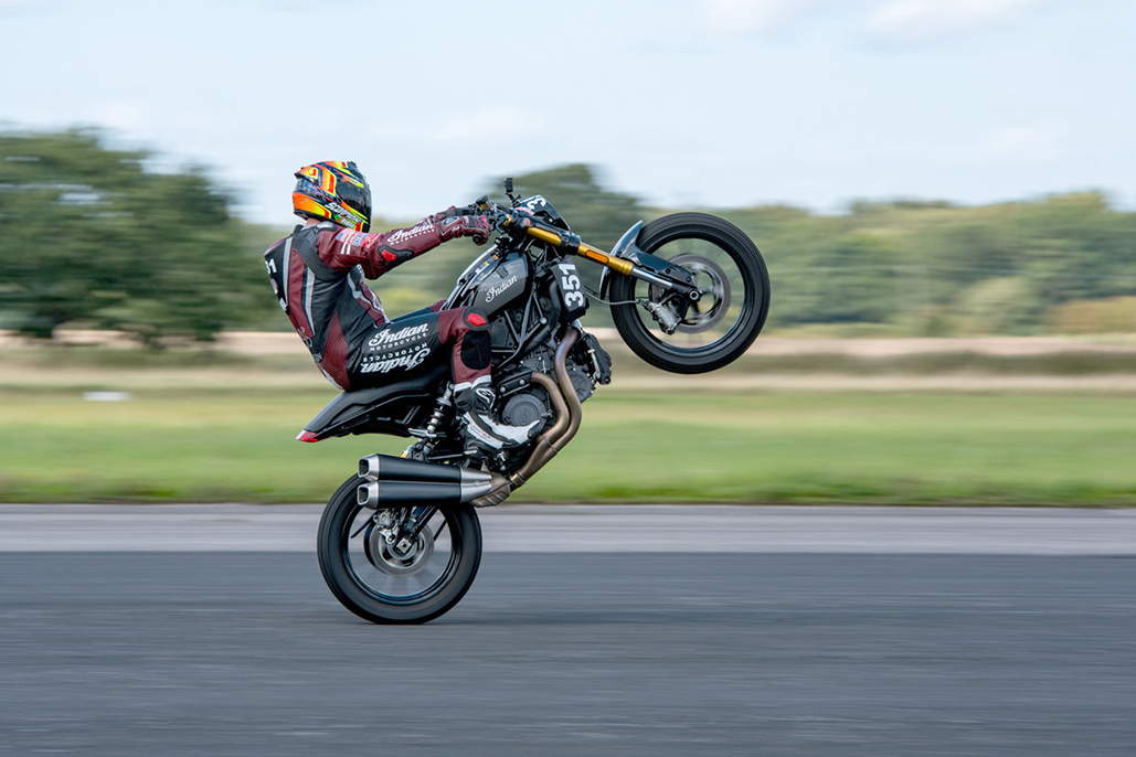 Ftr 1200 Sets Uk Speed Records And Makes World Wheelie Championship Debut