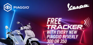 Piaggio And Vespa Retailers Partner With Tracker Network Uk