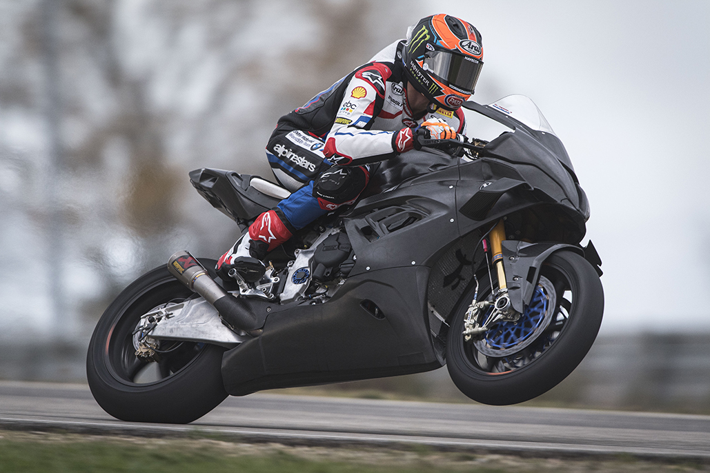 Michael Van Der Mark Completes First Laps On The New Bmw M 1000 Rr.