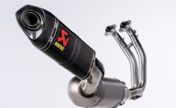 Racing Line (Carbon) Exhaust System for the Aprilia RS 660 from Akrapovič
