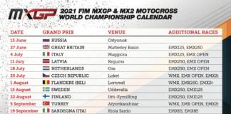 2021 Calendar Update: Fim Motocross World Championship