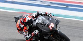 Baz Leads Day One Of Motoamerica  Dunlop Preseason Test