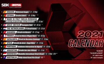 2021 Worldsbk Provisional Calendar Update