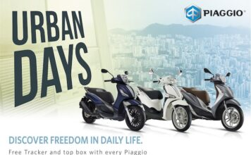 Free Tracker And Top Box With Piaggio Medley, Liberty And Beverly Scooters Until 31st May