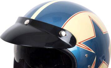 New Duchinni Open Face Helmet With Retro Graphics