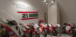 A Temporary Exhibition At The Ducati Museum For Troy Bayliss
