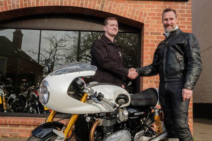 Distinguished Gentleman Wins New Triumph Thruxton R