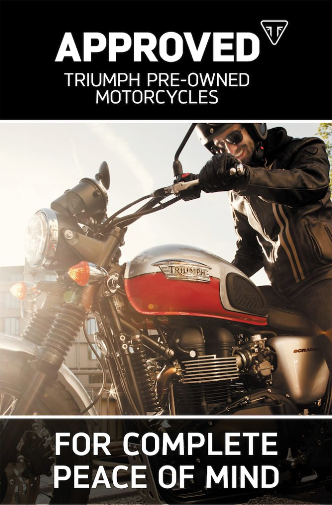 Triumph Launches Approved Pre-owned Motorcycles Programme