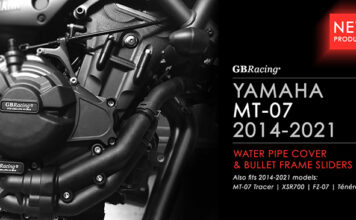 Yamaha Mt-07 Water Pipe Cover And Bullet Frame Sliders