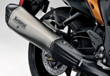 Akrapovic slip on silencers now available for new Hayabusa 01