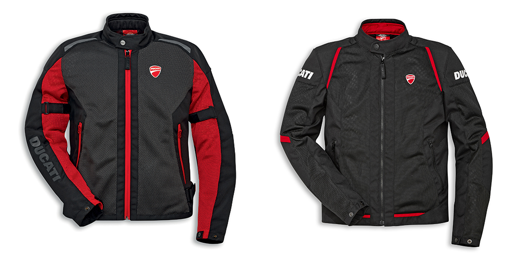 The ventilated Ducati fabric jackets for summer motorcycle rides 01