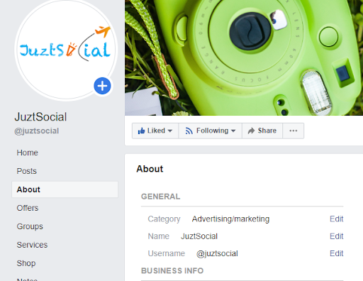 facebook-page-setup-example