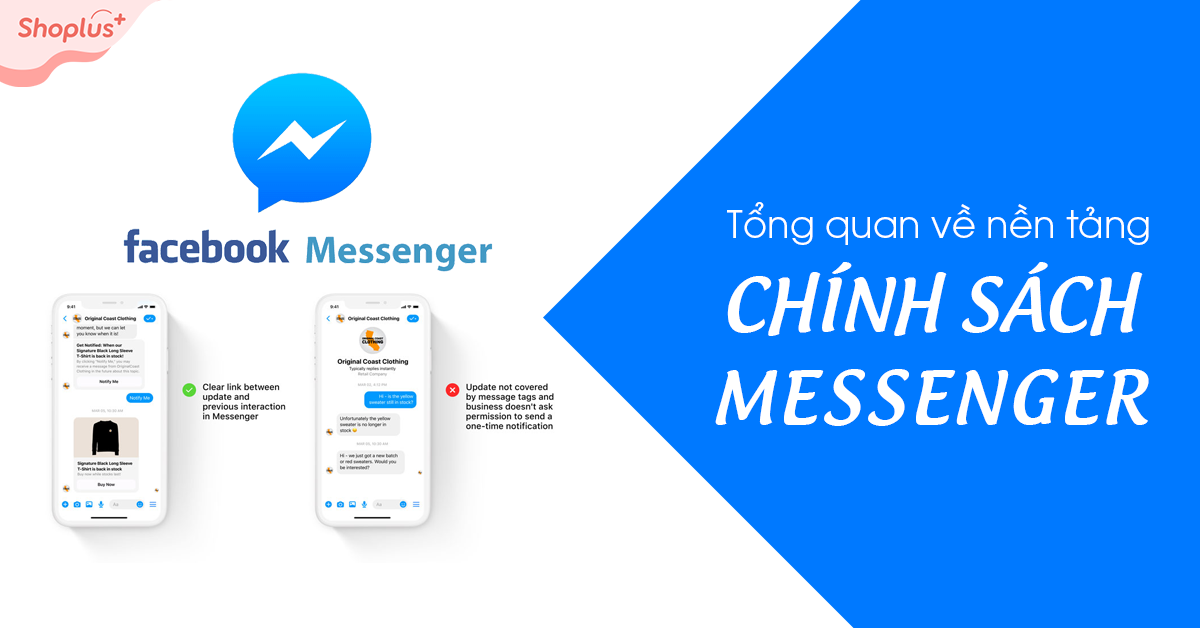 Banner tổng quan chính sách nền tảng Messenger