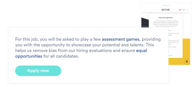 this visual shows the message applicants starting with the equalture application process will receive before playing their first game