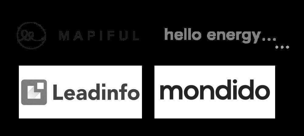 Our customers: Mapiful, hello energy, leadinfo, mondido