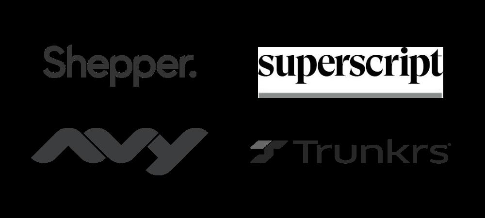 our customers: shepper, superscript, trunkrs