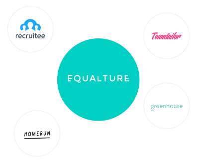 Overview of ATS that Equalture integrates with: recruitee, teamtailor, homerun, greenhouse
