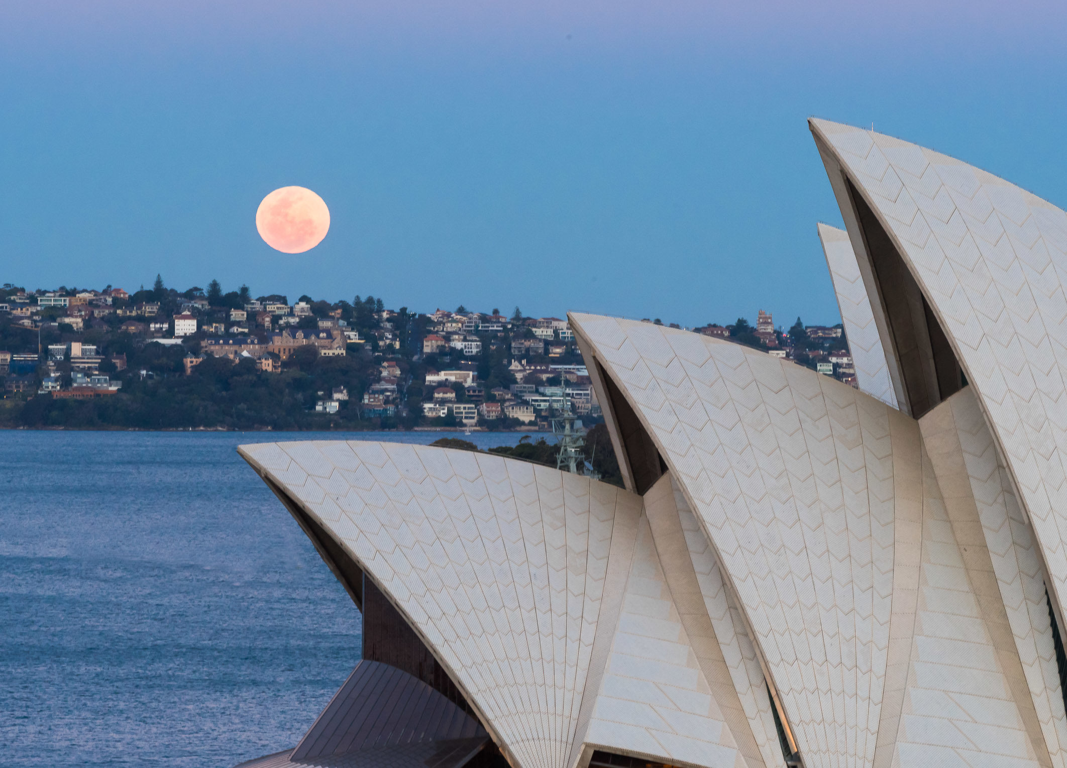 Moonrise Over the Opera House, Sydney, Australia