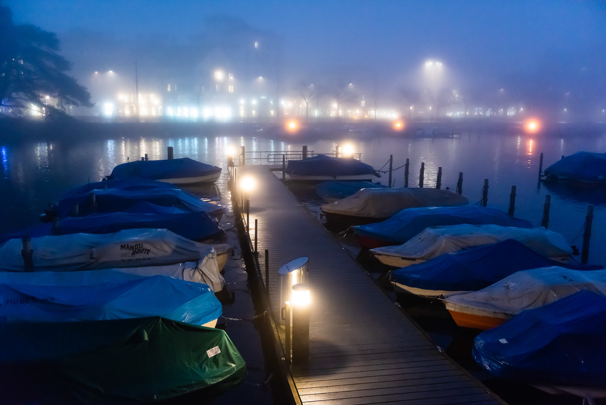 Boats in the Fog, Zürich, Switzerland