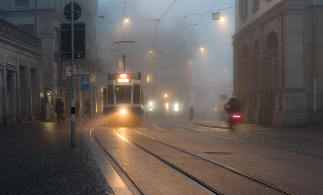 Tram Stop, Zurich, Switzerland