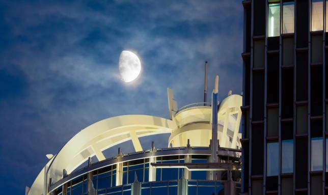 The Moon Over 111 Huntington, Boston, Massachusetts