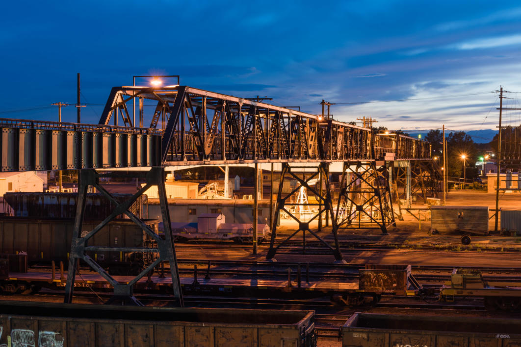 Pedestrian Bridge, Laramie Rail Yard, Laramie, Wyoming