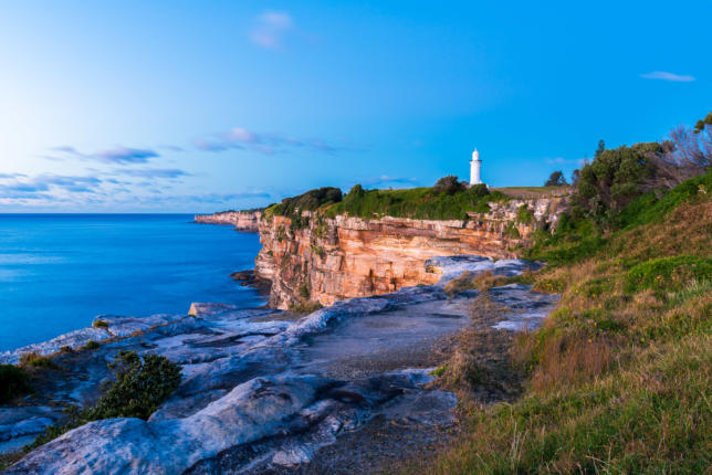 Macquarie Lighthouse at Dawn, Sydney, Australia