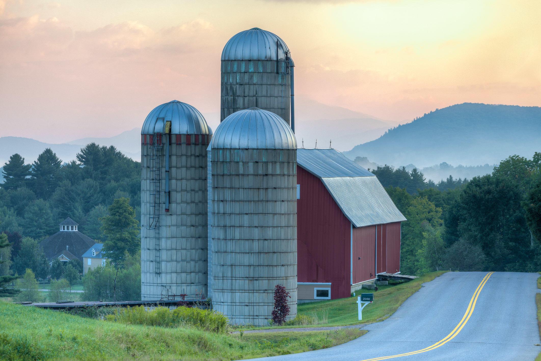 Barn at Sunrise, Waitsfield, Vermont