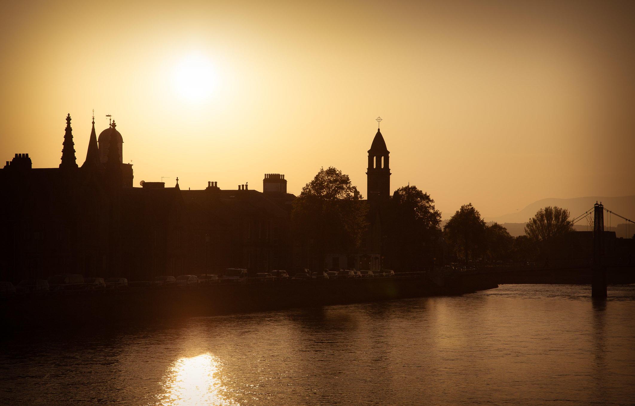 Sunset, Inverness, Scotland.