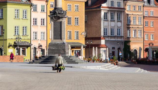 Old Town & Sigismund's Column, Warsaw, Poland