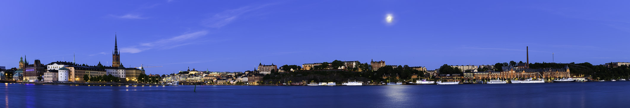 The ProPhoto RGB version of Moonrise, Stockholm, Sweden