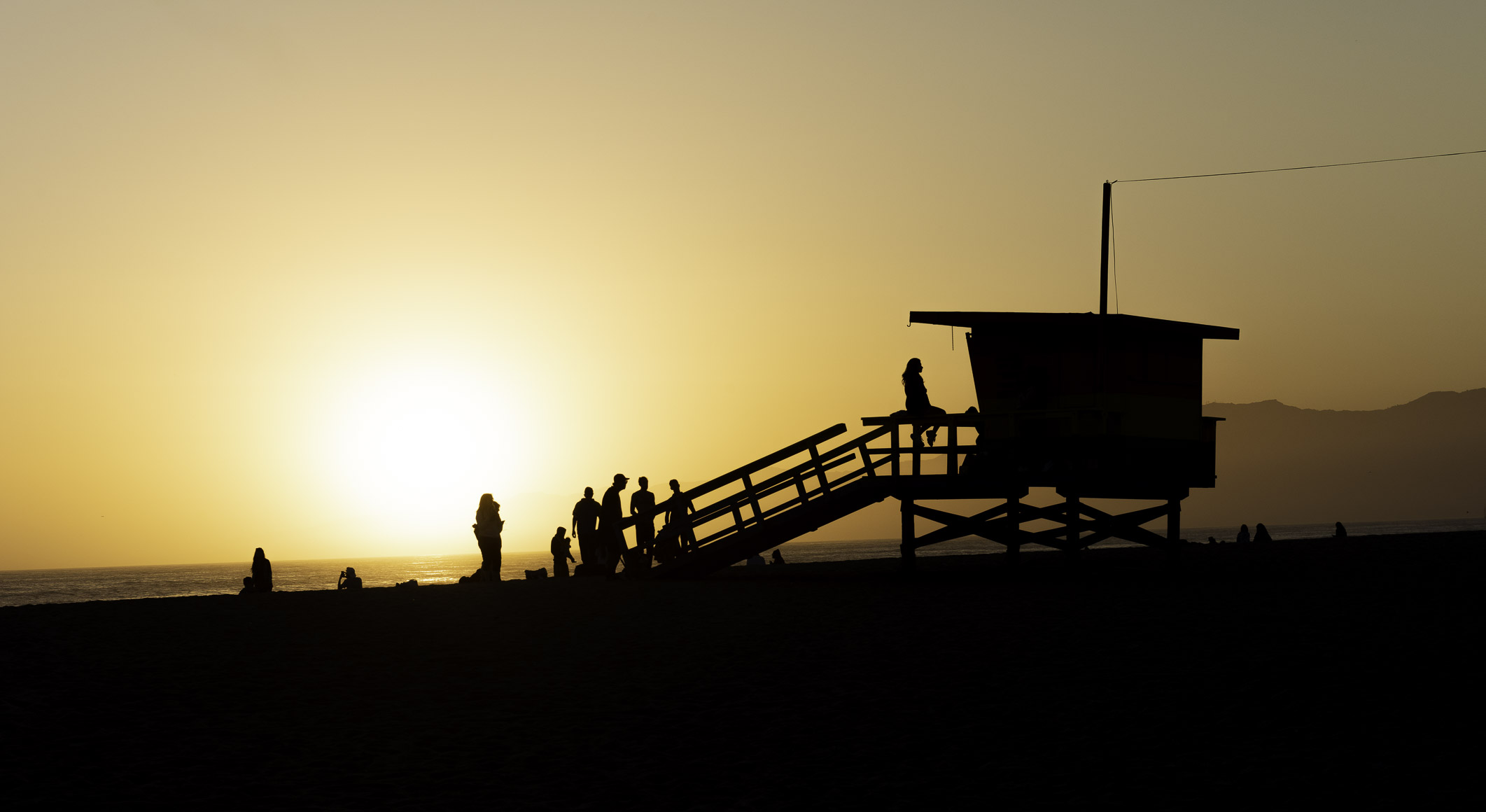 Sunset, Venice Beach, California