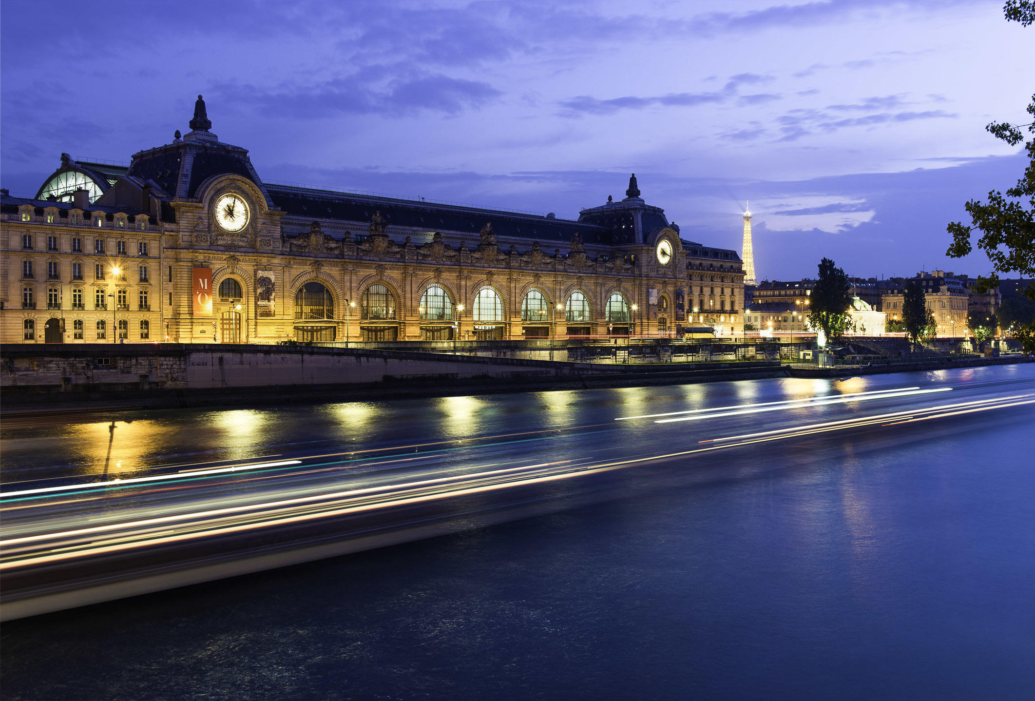 Twilight at the Musée d'Orsay, Paris, France